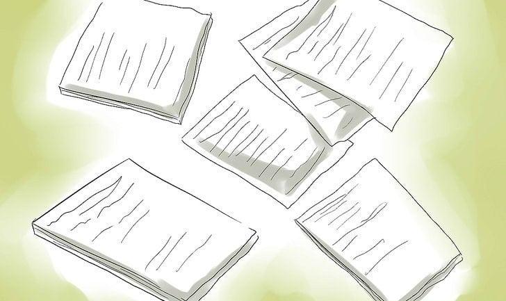 تمام اطلاعات را جمع آوری کرده و پیش نویس های مختلفی را تهیه نمائید.